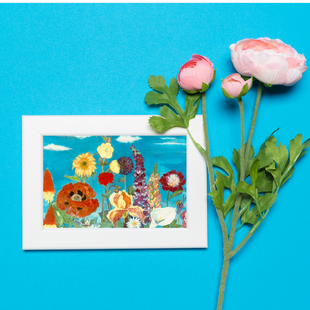 Flower Haven framed Art Card