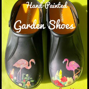 Hand painted garden shoes