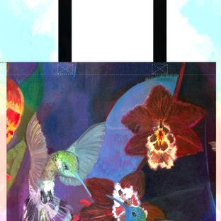 Tote Bag Hummingbird Carnival