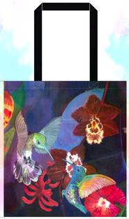 Shopping Bag 'Hummingbird Carnival'