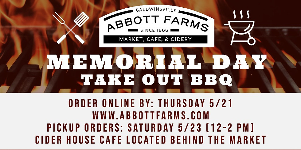 Memorial Day Take-home BBQ