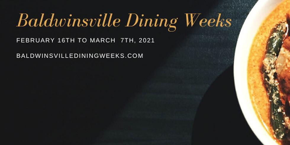 Baldwinsville Dining Weeks, Week 1 Feb 20
