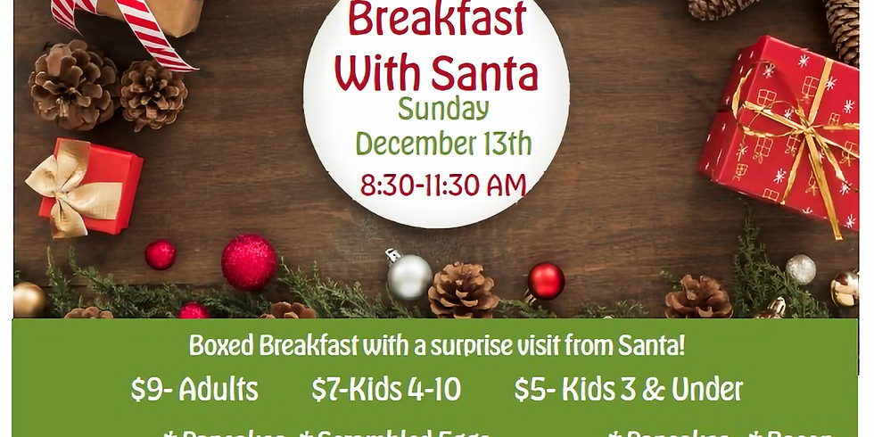 Breakfast with Santa Group 3 (10:30AM-11:15AM)