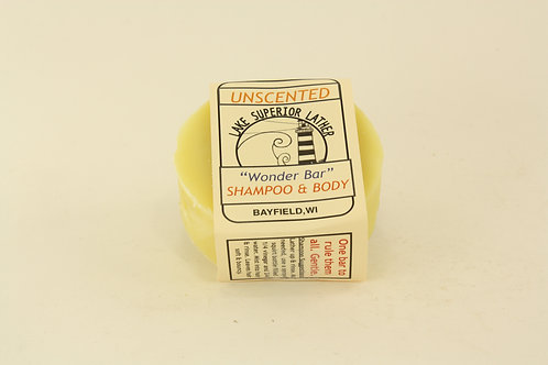 UNSCENTED WONDER BAR SHAMPOO AND BODY