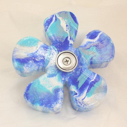 AQUA BLUE FLOWER SOAP SLIDE