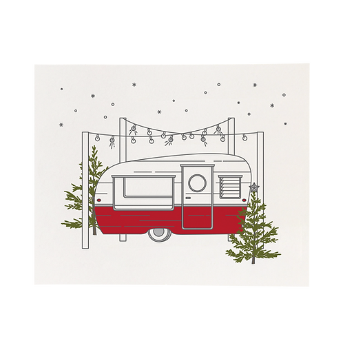 "Christmas Camper, 8"" x 10"" Print"