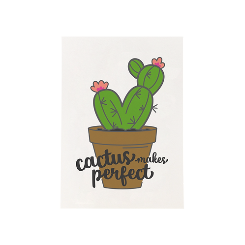 Cactus Makes Perfect, 5x7 Print