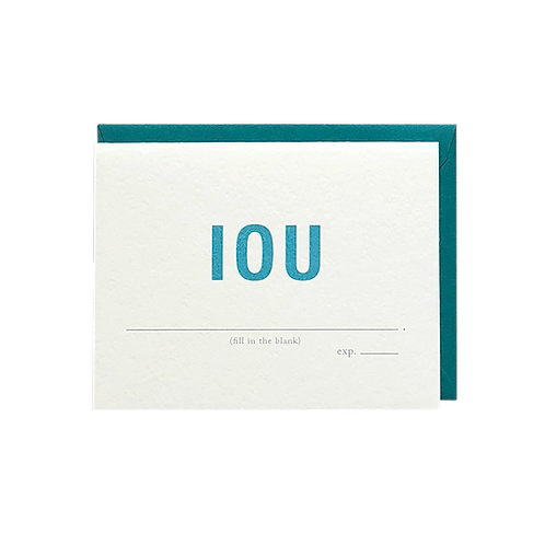IOU - fill in the blank (boxed set)