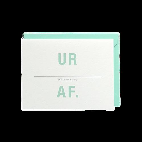 UR __________ AF.