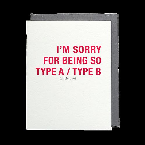Type A/Type B
