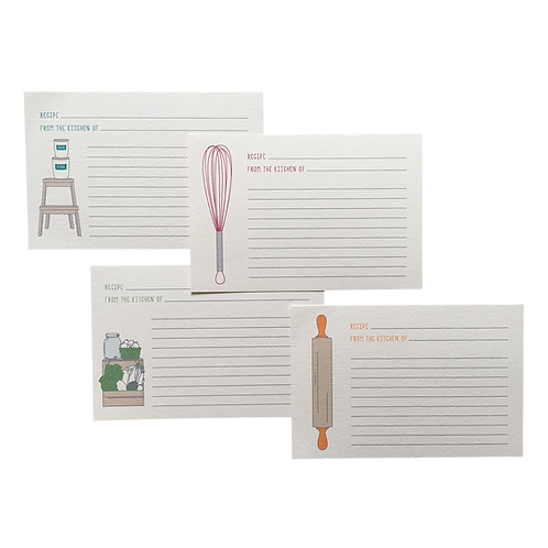"4"" x 6"" Assorted Lined Recipe Cards"