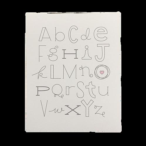 "Alphabet, 8"" x 10"" Print"