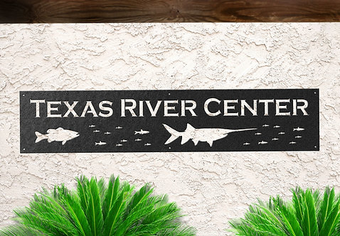 Custom Metal Business Sign, Fish Hatchery Sign, Wildlife Park Sign