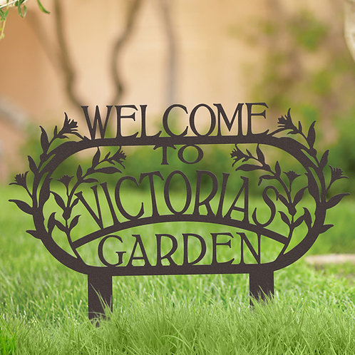 Gift for Gardener Personalized Metal Sign