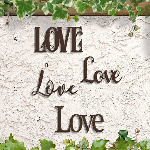 Love Word Sign, Home Wall Decoration