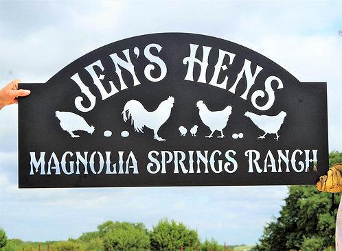 Chicken Sign | Steel Hen House Sign
