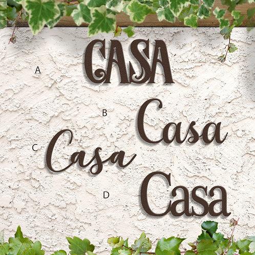 Casa Metal Word Sign, Casa Decorations