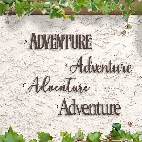 Adventure Metal Word Sign, Adventure Decor Indoor or Outdoor
