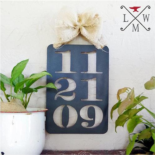 Metal Anniversary or Wedding Sign