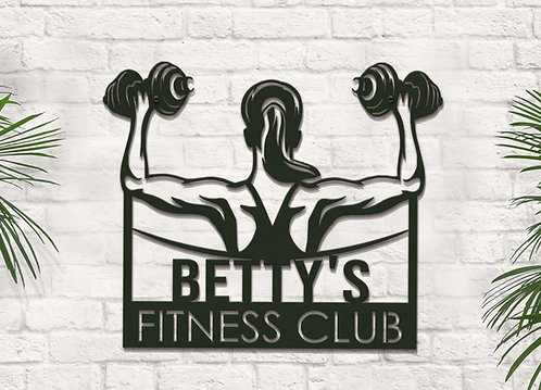 Personalized Women's Fitness Sign