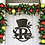 Thumbnail: Personalized Name Snowman Sign Classy Winter Metal Door Decoration