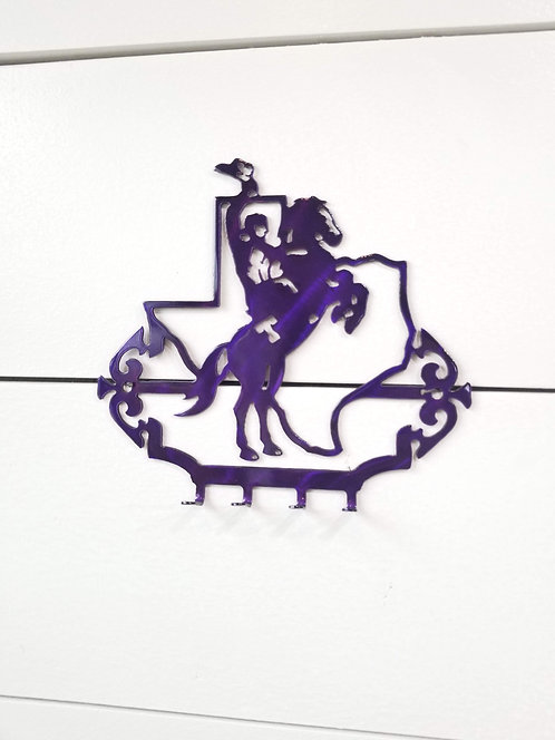 Tarleton State University Small Metal Key Holder Texan Rider