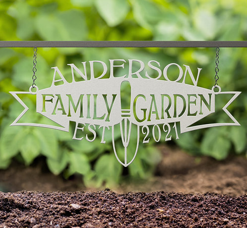 Personalized Hanging Family Garden Sign