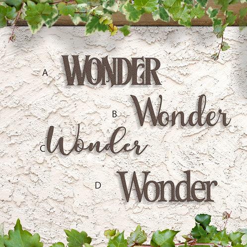 Wonder Metal Script Word Sign