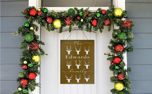 Family Christmas Door Sign