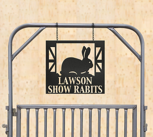 Show Rabbit Metal Sign