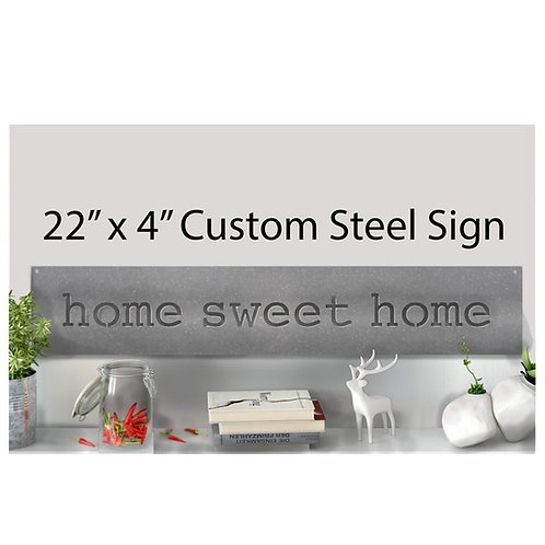 Metal Quote Inspirational Personalized Sign, Steel Wall Art Decor