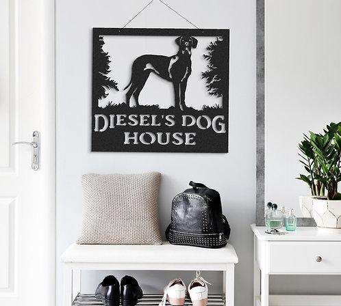 Great Dane Indoor or Outdoor Metal Dog Sign