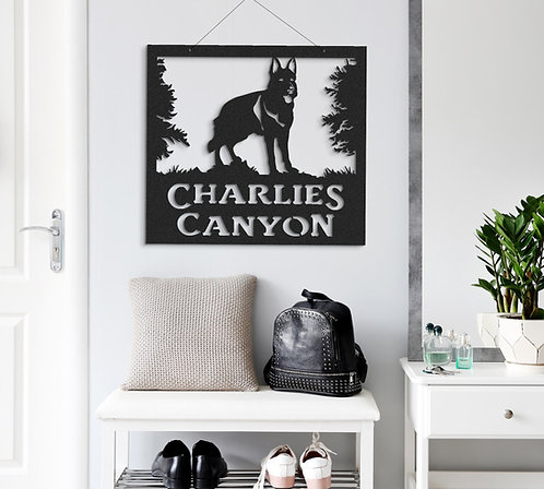 German Shepherd Custom Indoor or Outdoor Metal Dog Sign