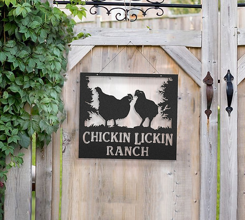 Broiler Chicken Metal Farm Sign