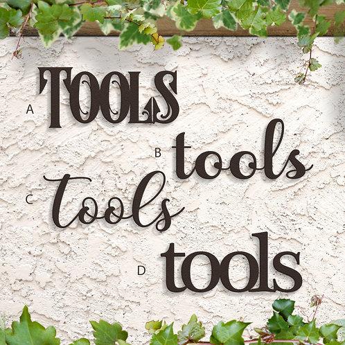 Gift for Gardener, Tools Script Sign