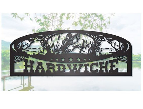 Duck Hunting Steel Sign, Large sign for Man Cave