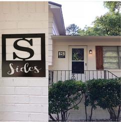 Sides name sign on house.jpg