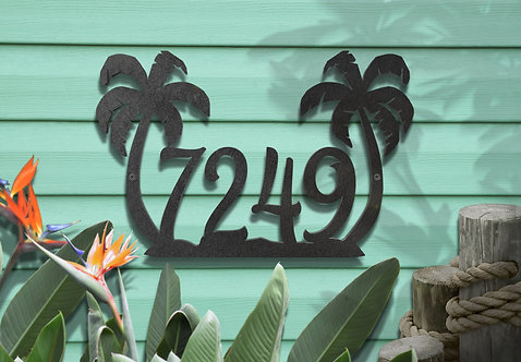 Beach Address Sign, Coastal Condo Numbers