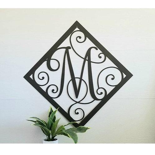 Diamond Border Monogram ~ You Choose The Letter