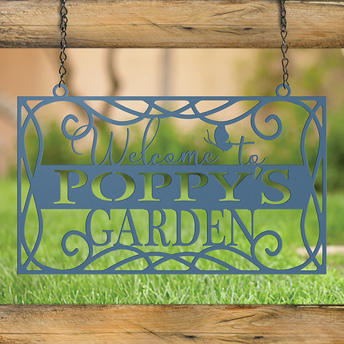 Gift For Grandpa, Hanging Garden Sign