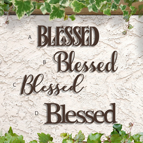 Blessed Home Decorations, Blessed Word Sign