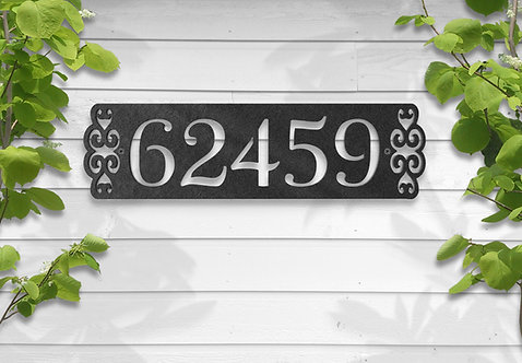 Decorative House Number Sign, Metal Number Sign