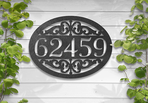 Metal Address Sign, Housewarming Gift