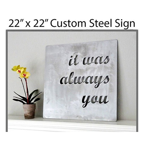 Custom Metal Quote Sign and Sayings, Inspirational Personalized Sign, Steel Wall