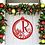 Thumbnail: Poinsettia Ornament Framed Family Initial  | Christmas Letter Door Sign