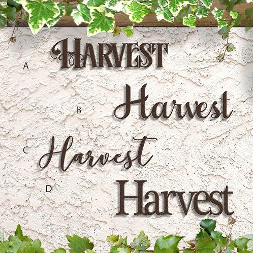 Harvest Wall Decor, Metal Word Sign Indoor or Outdoor
