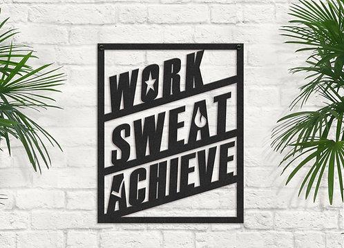 Metal Gym Sign, Workout Room Wall Art