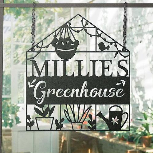 Custom Metal Greenhouse Sign