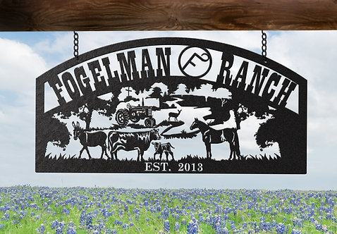 Custom Steel Farm or Ranch Sign