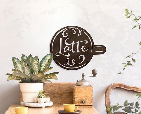 Metal Coffee Decorations ~ Coffee Cup Wall Art